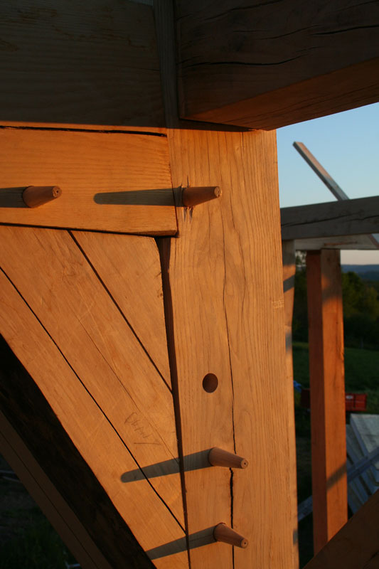 Timber Frame Joint | New Heritage Woodworking