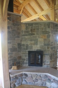 Timber Frame with Masonry Heater