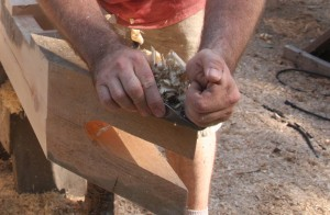 Hand Planing a Pine Timber