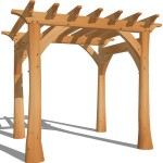 Pergola with Natural Round Posts