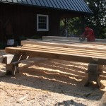 Timbers on Cribbing
