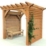Pergola wth Privacy Screen